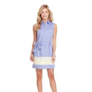 Vineyard Vines Striped Cotton Shirt Dress